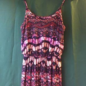 Lush Knit Maxi Dress Aztec Print